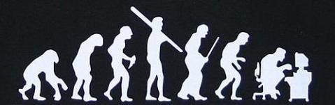 A brincadeira com a evolução humana é do site http://www.neatorama.com/. (Fonte: Circuito Integrado - blog do caderno de Informática da Folha Online)