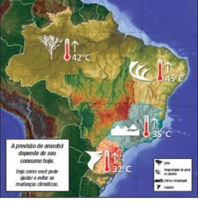 Campanha do Instituto de Defesa do Consumidor e Vitae Civilis sobre o impacto dos hábiotos diários para a degradação ambiental.